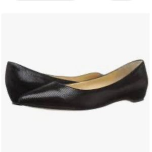 Ivanka Trump Chic Black  Suede Leather Flat Shoes
